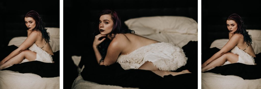 moody boudoir photos photographed at home