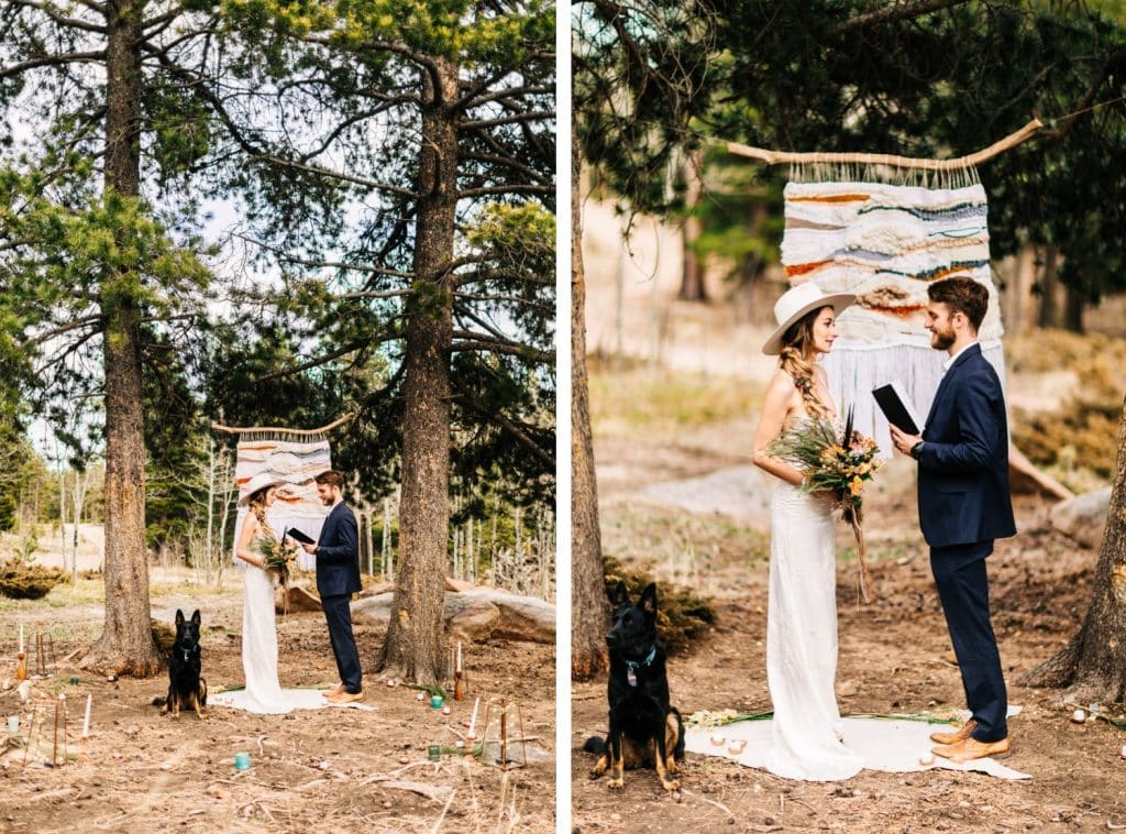 camper van wedding elopement ceremony in the Rocky Mountains of Colorado