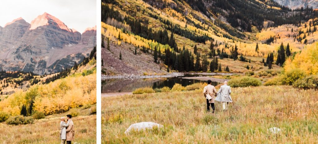 same sex proposal in Maroon Bells Aspen Colorado