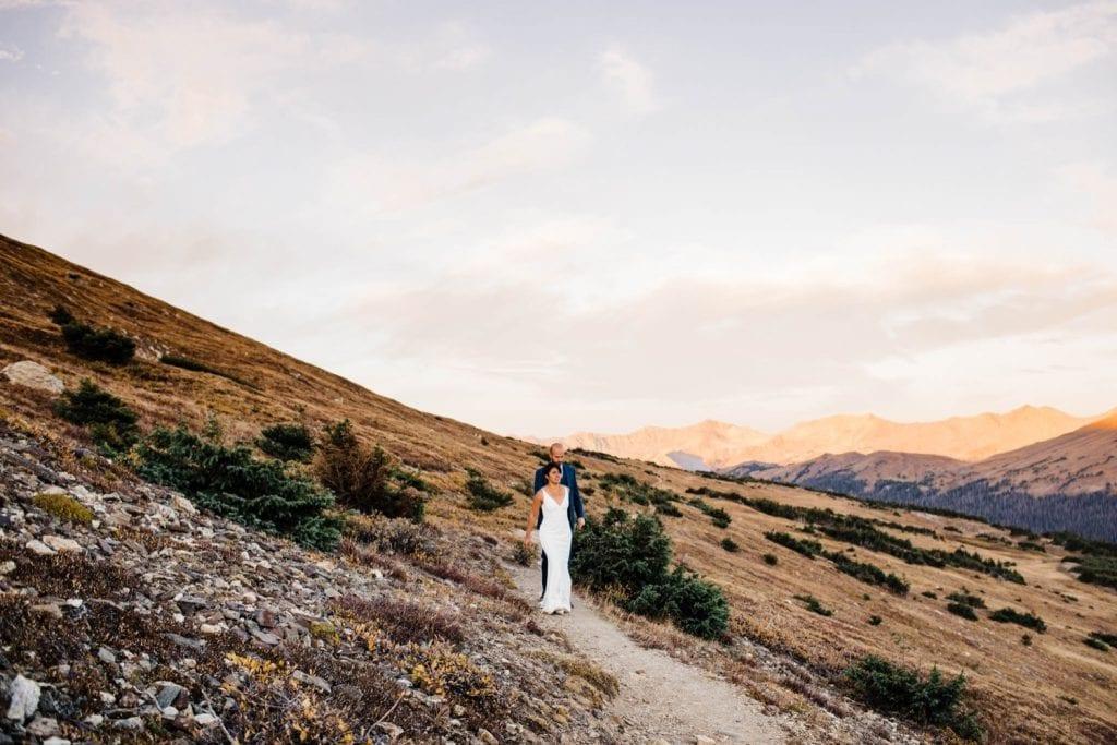 Rocky Mountain post-wedding adventure session in Estes Park Colorado