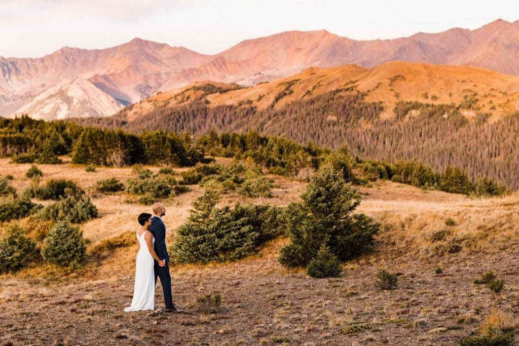 sunrise adventure session in Rocky Mountain National Park | Colorado mountain wedding photographers