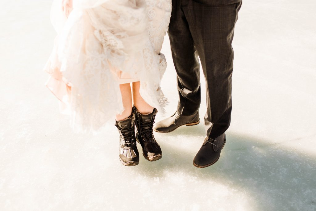 best shoes for elopements and adventurous weddings example 2
