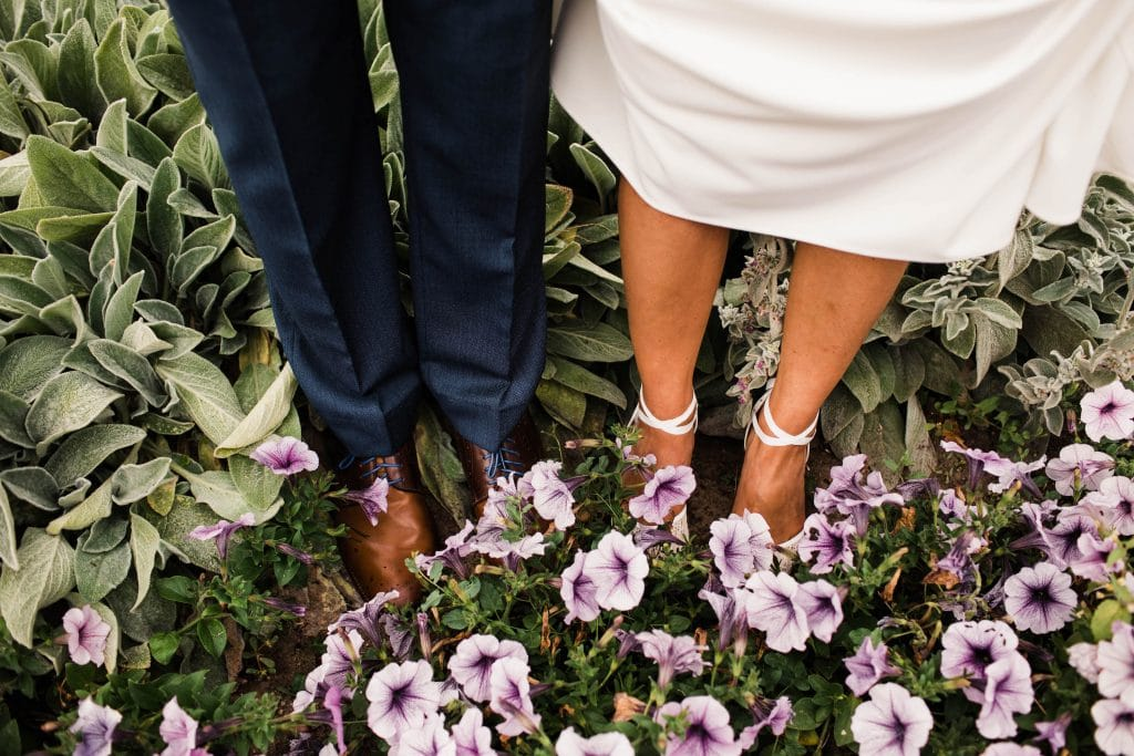 best shoes for elopements and adventurous weddings example 3