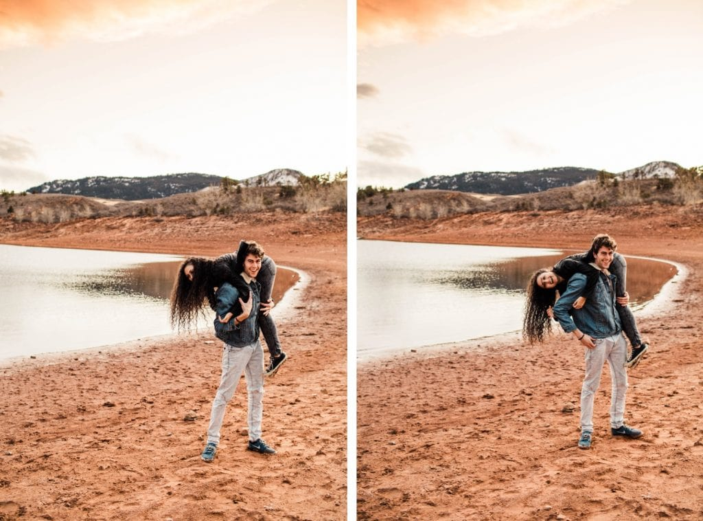 Fort Collins engagement session in the Rocky Mountains   wedding photographers near Fort Collins