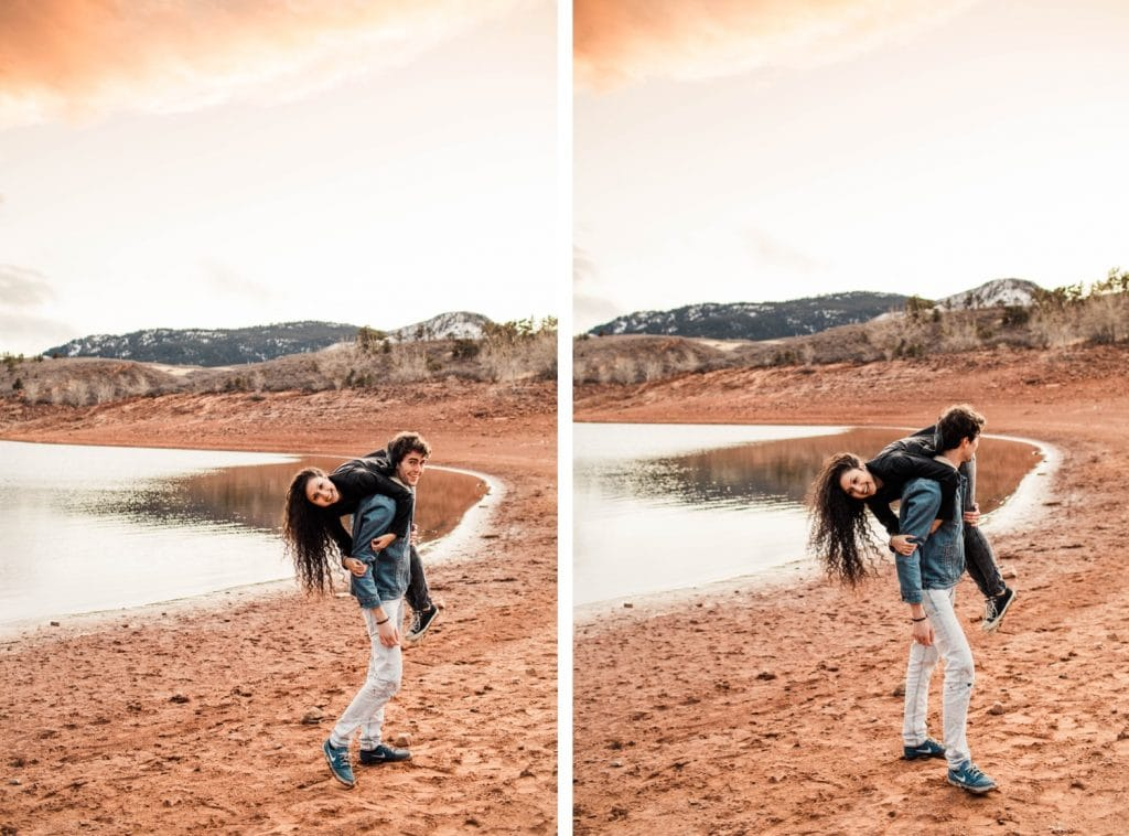 adventurous engagement session in the Rocky Mountains in northern Colorado   Fort Collins elopement wedding photographers