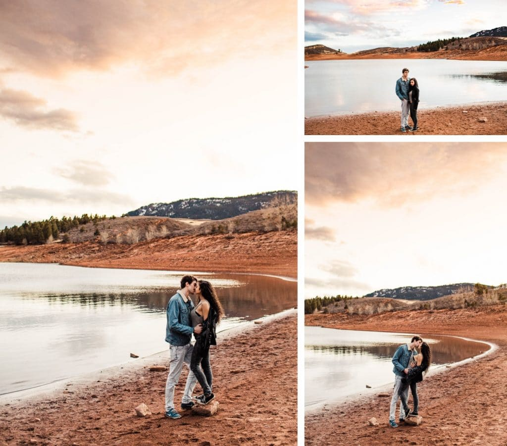 adventurous engagement session in the Rocky Mountains in northern Colorado | Fort Collins elopement wedding photographers