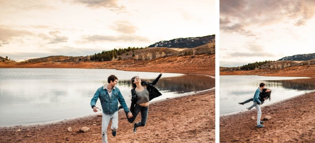 playful engagement session in the Rocky Mountains of northern Colorado | best Fort Collins wedding photographers