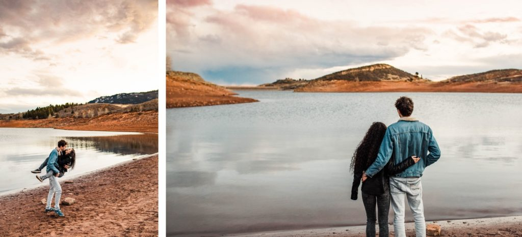 sunset engagement session in Fort Collins   Fort Collins wedding photographers
