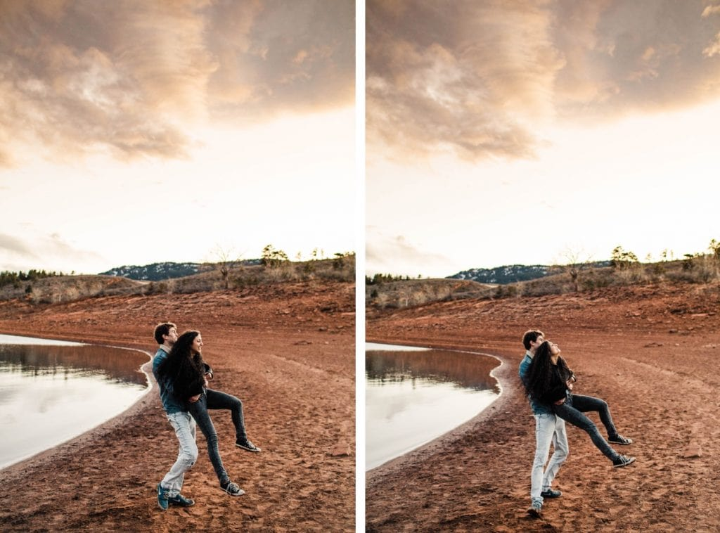 Rocky Mountain engagement session in Fort Collins Colorado | Fort Collins wedding photographers