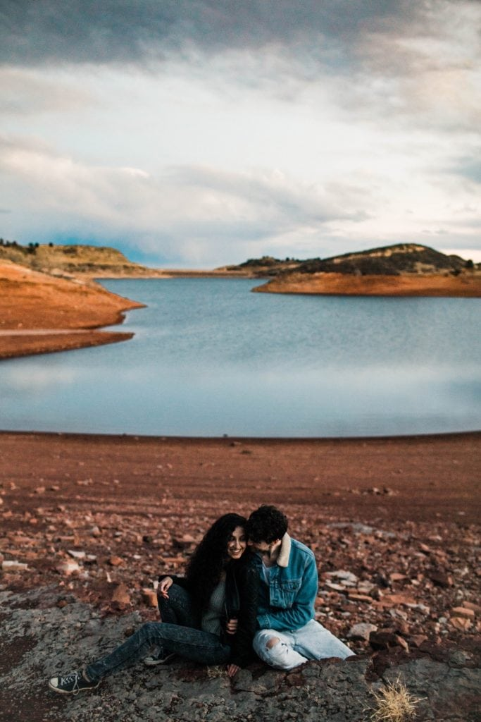 lakeside Fort Collins adventure session in the mountains of Colorado   Fort Collins wedding photographers
