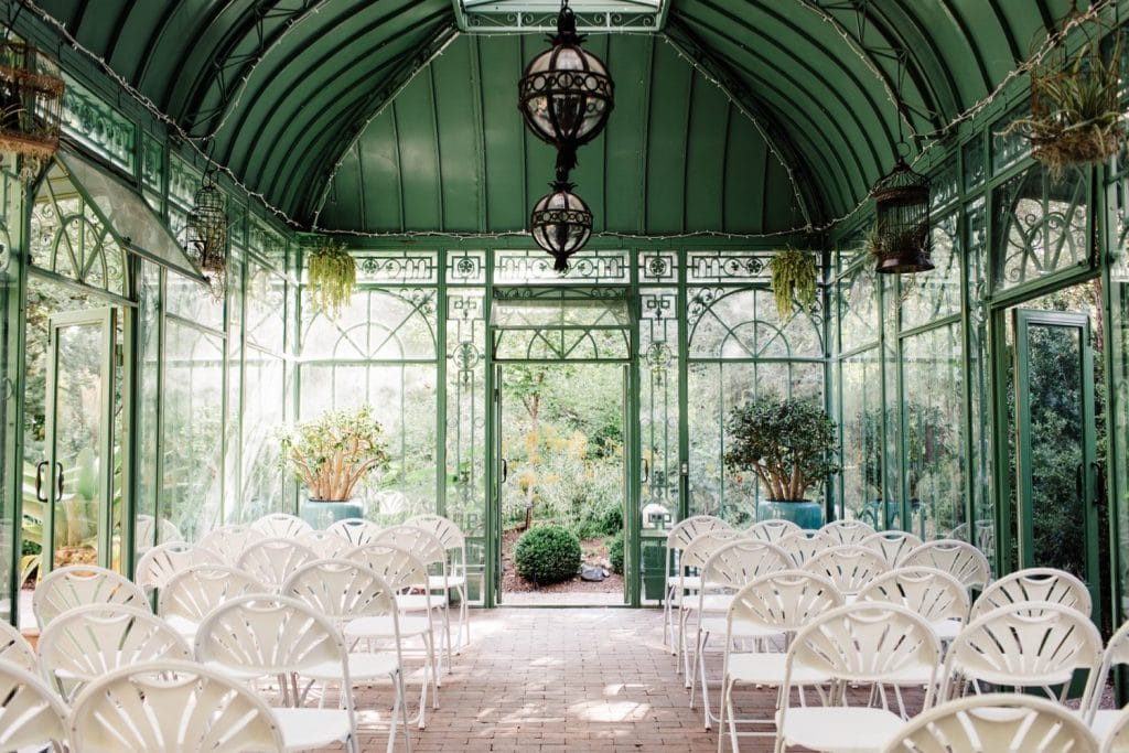 Denver Botanic Gardens small wedding featured as best Colorado wedding venue