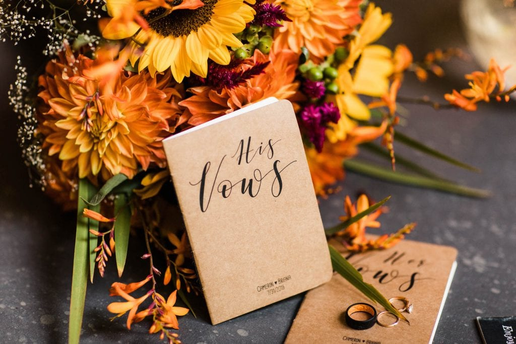 self uniting marriage invitation suite for a couple who has chosen to marry themselves