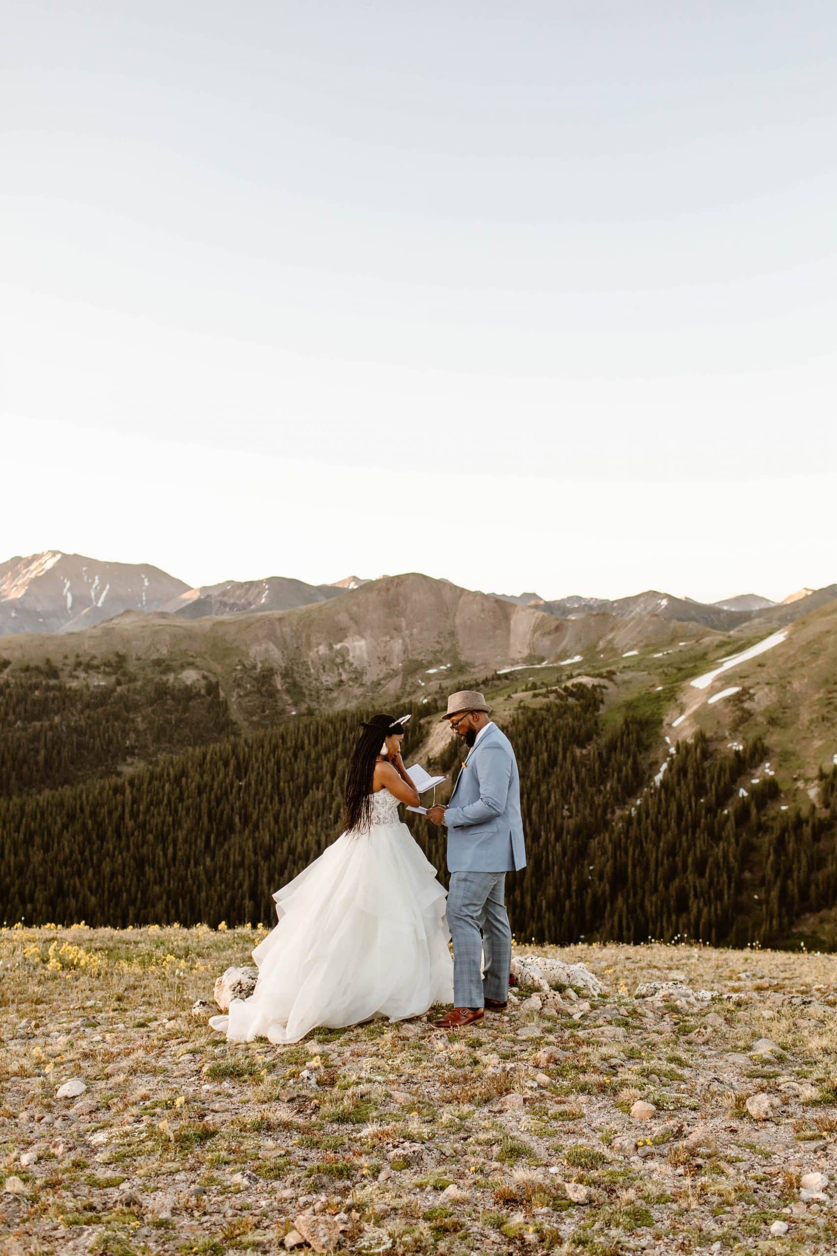 self solemnization Colorado ceremony in the mountains