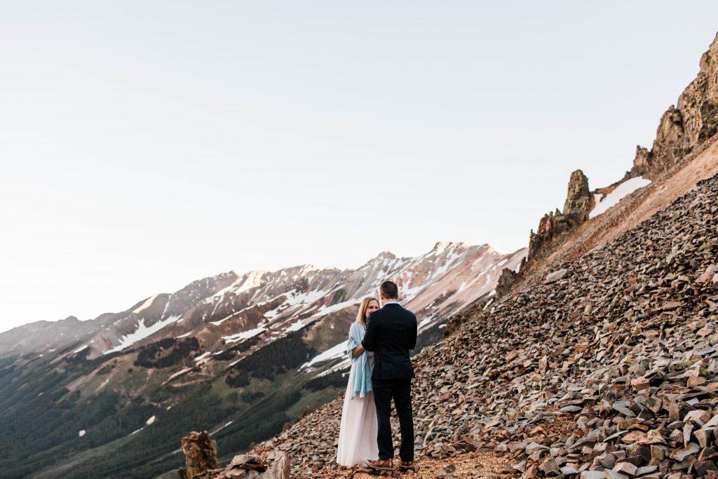 Summer elopement in Telluride Colorado in the San Juan mountains