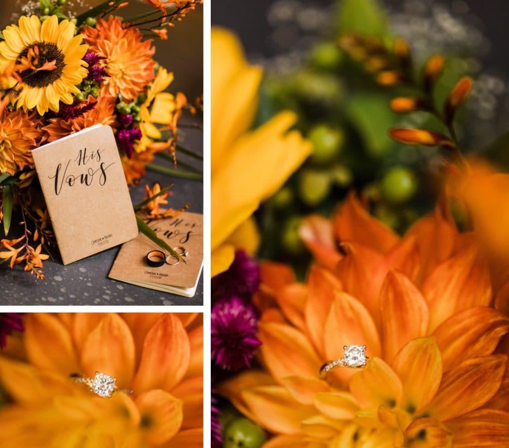 elopement vow books for a Mt Rainier national park elopement | Washington state elopements