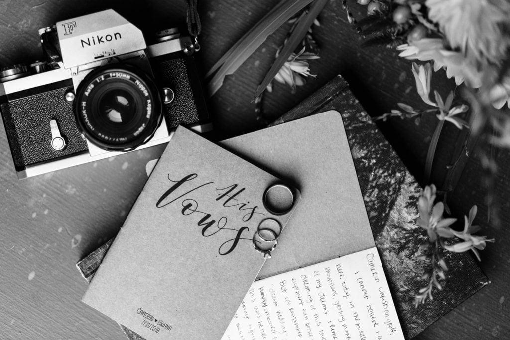elopement vow books for a Mt Rainier National Park elopement | Washington state adventure wedding photographers