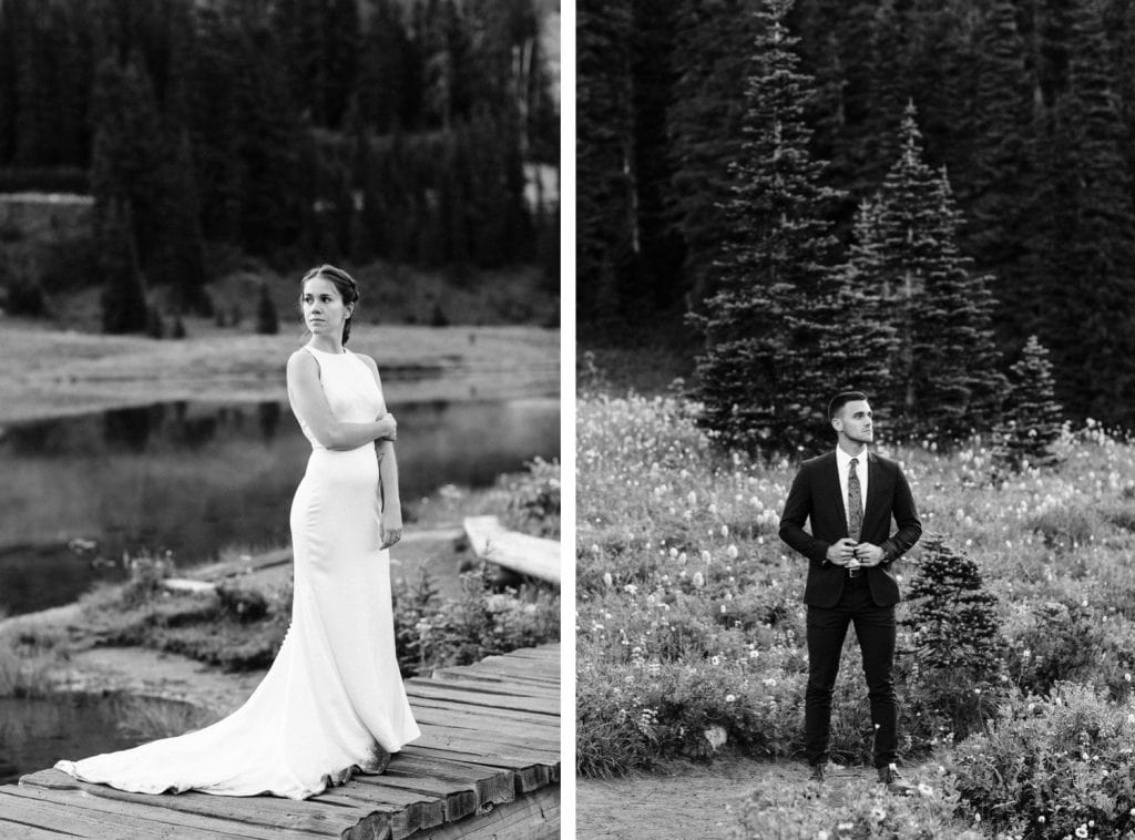 Mt Rainier national park elopement photos at sunrise | Washington state elopements and adventure weddings