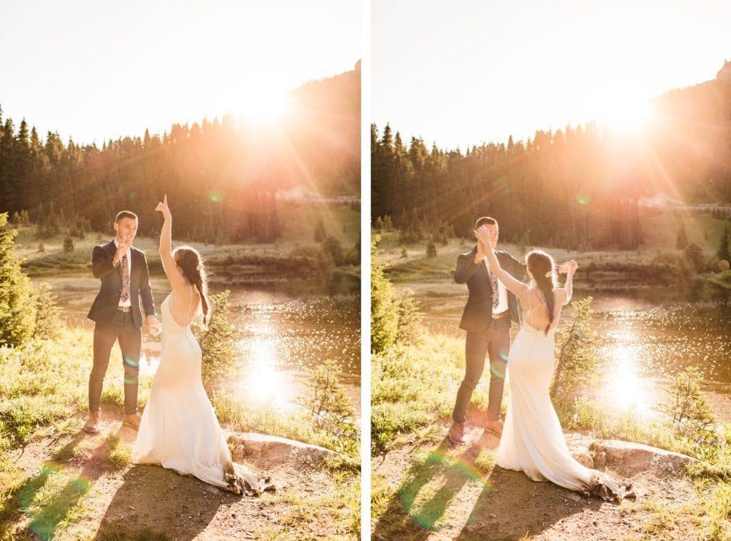 Mt Rainier National Park elopement photos in Seattle | Washington state elopement and adventure weddings