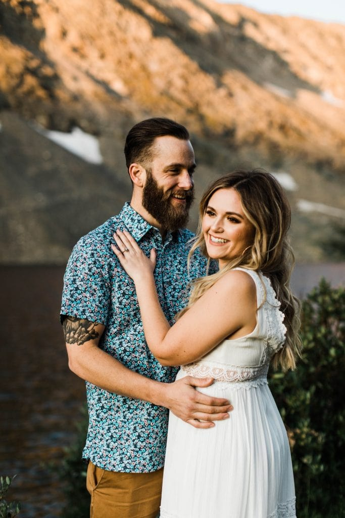 playful adventure engagement photos in Breckenridge Colorado for an eloping couple | Breckenridge wedding photographers
