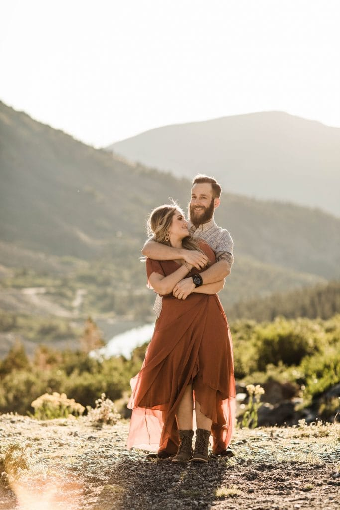 gorgeous mountain engagement photos in the mountains of Breckenridge | Colorado elopement and adventure wedding photos