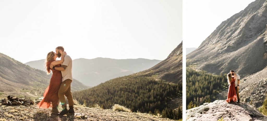 super romantic adventurous engagement photos in Breckenridge for an eloping couple | Colorado elopements