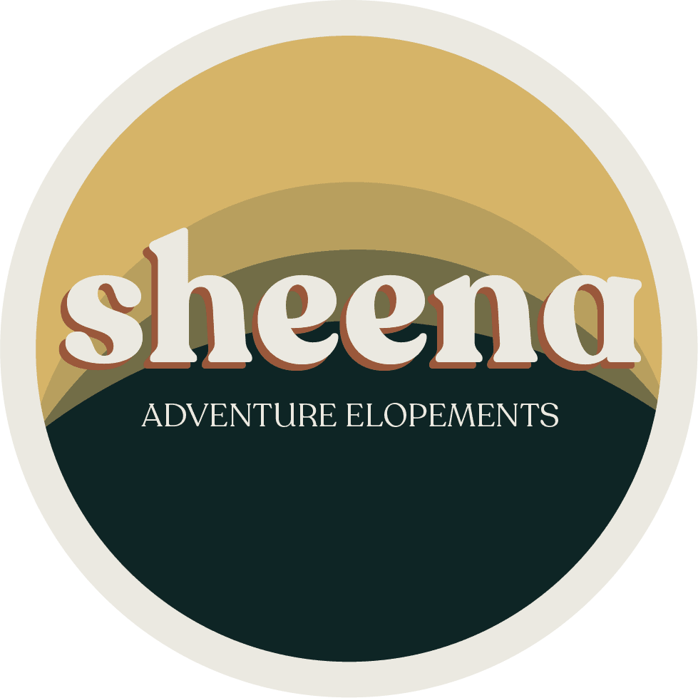 Colorado adventure elopement photographers logo | Sheena Shahangian Photography LLC