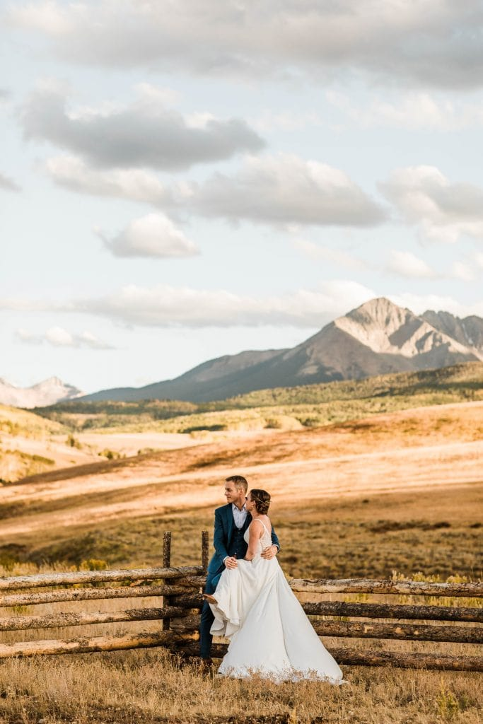 September adventure wedding in Telluride Colorado documented by Colorado elopement photographers