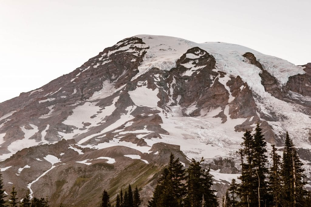 Mt Rainier elopement locations found by Colorado adventure wedding photographers