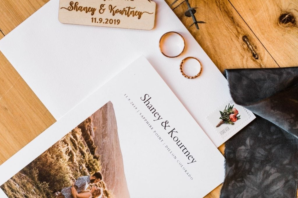 Sapphire Point Overlook wedding invitation suite