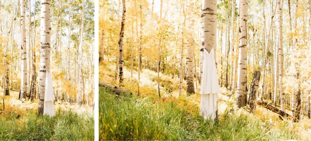 Telluride wedding details at a cabin in the San Juan Mountains of Colorado