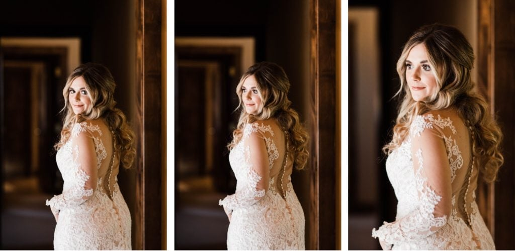 Colorado bride getting ready for her Sapphire Point Overlook wedding