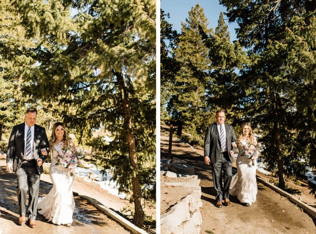 processional for Sapphire Point wedding in Breckenridge Colorado