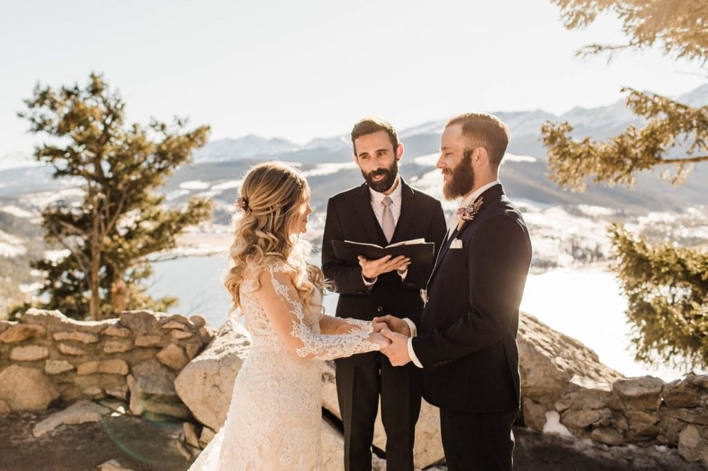 Sapphire Point Overlook wedding ceremony