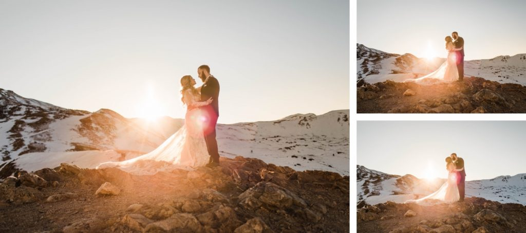 couple enjoying their first dance for their Sapphire Point Overlook wedding