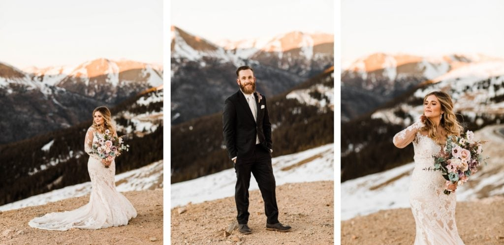 bride and groom portraits for a Sapphire Point Overlook wedding