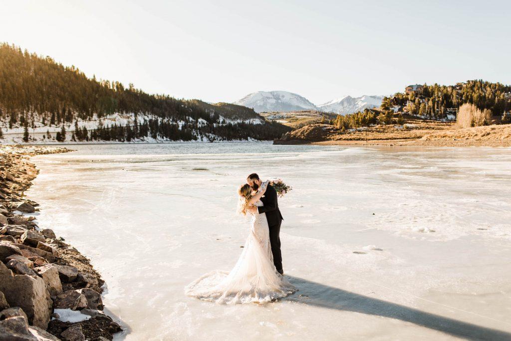best places to elope in US | elopement in Breckenridge in winter