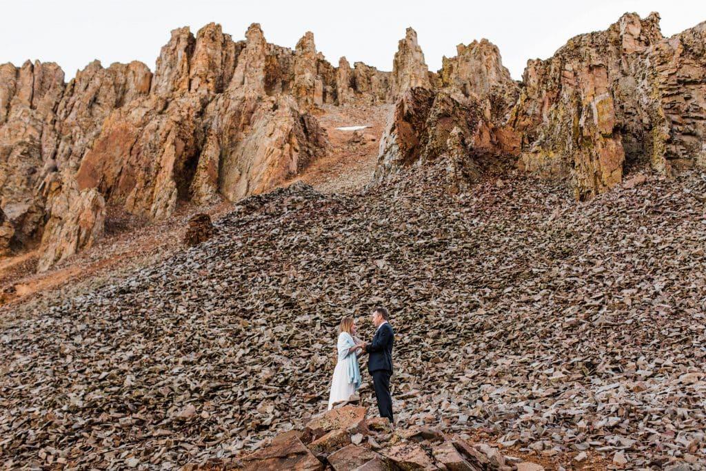example of self solemnization elopement in Colorado San Juan Mountains