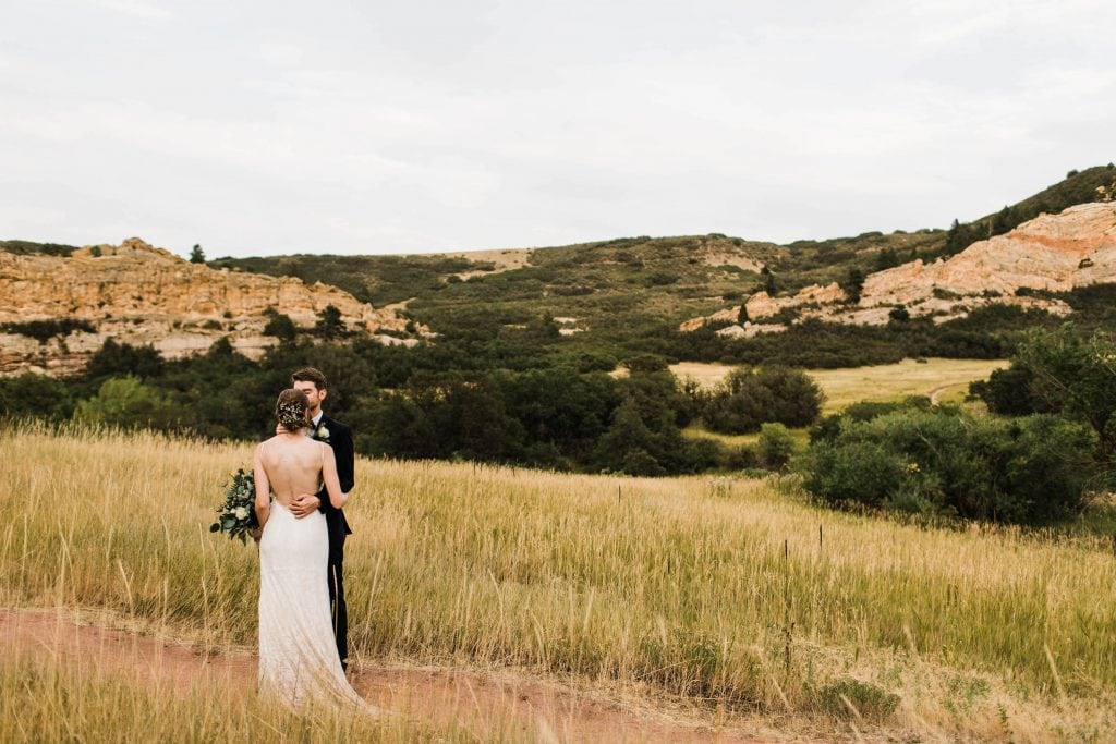 how to elope in Colorado | couple eloping on hiking trail in the Front Range