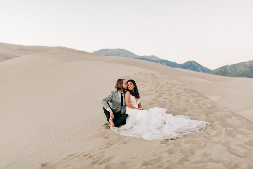 Sheena and Ed's sand dunes elopement