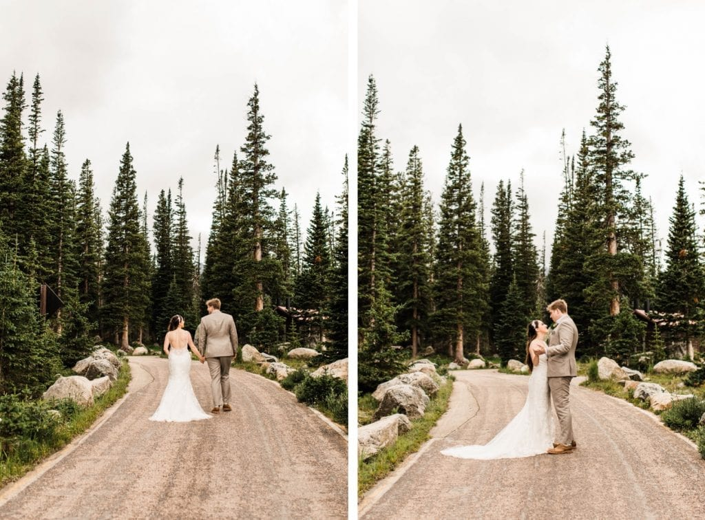 mountain wedding dancing photos taken by Colorado mountain wedding photographers