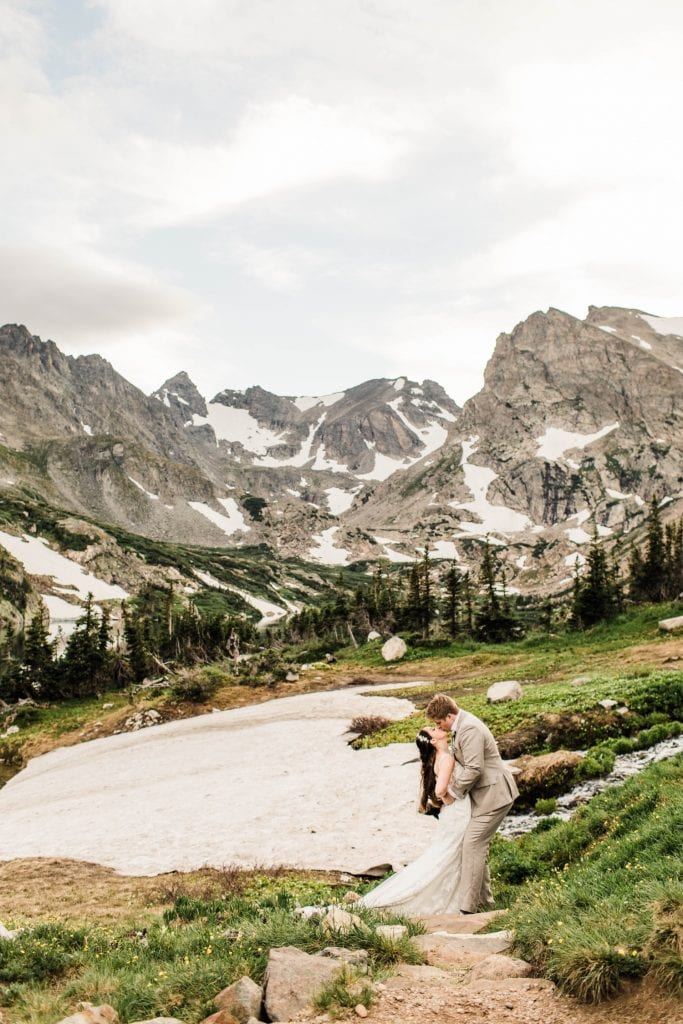mountain wedding in Colorado photographed by Colorado mountain wedding photographers