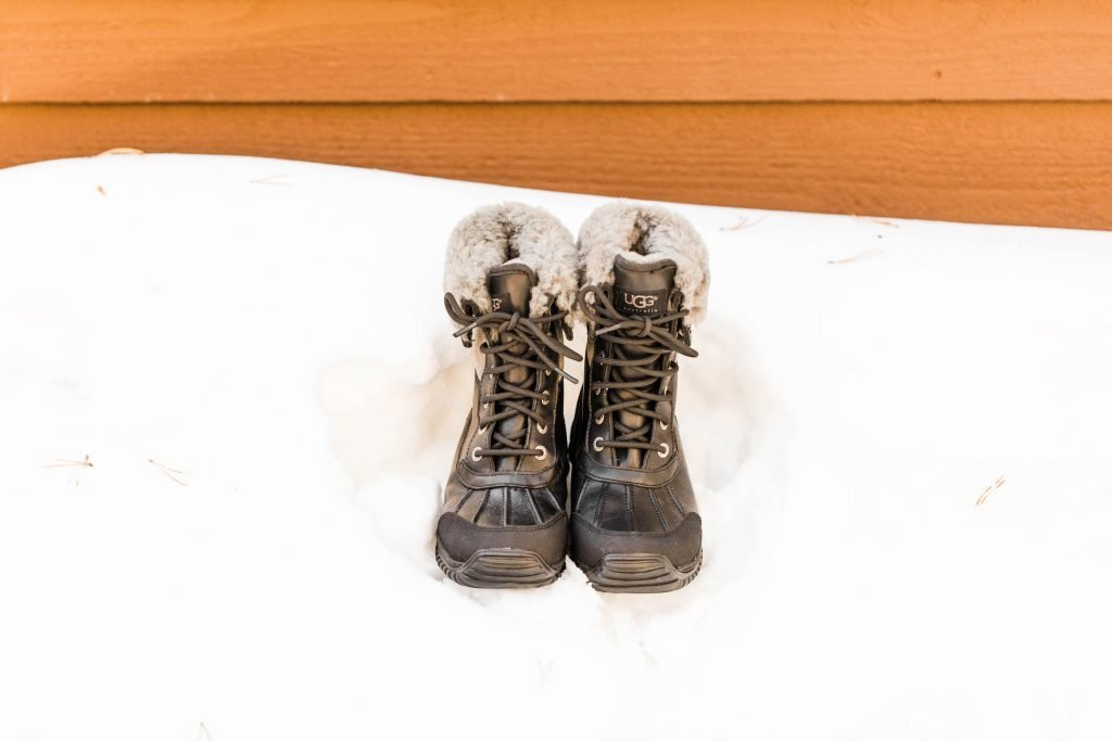hiking boots to pair with a hiking wedding dress