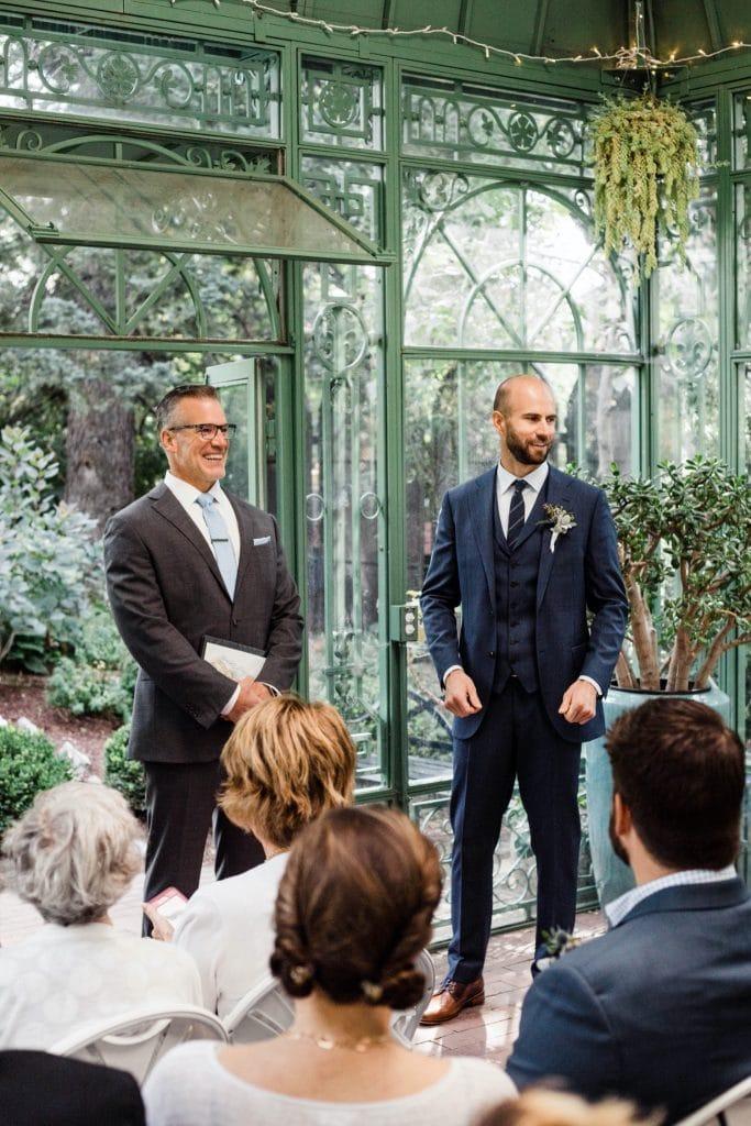 Denver Botanic Gardens wedding processional