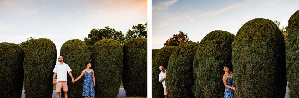 sunset couples photos after a small Denver Botanic Gardens wedding