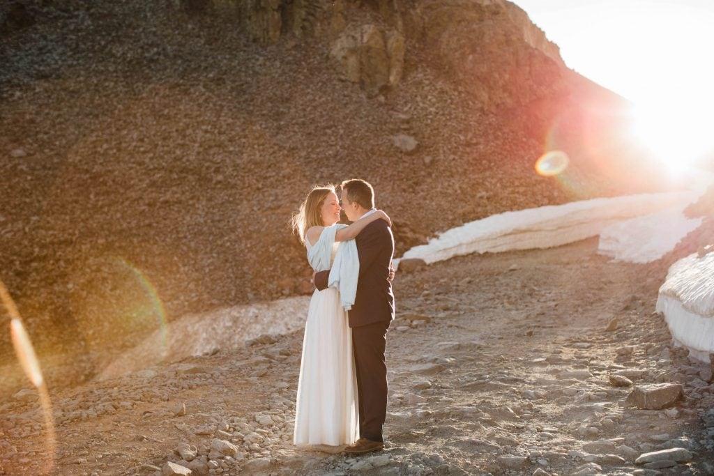 Telluride elopement at sunrise