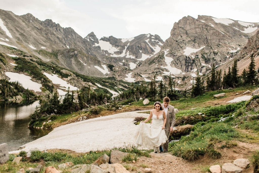 Colorado elopement packages and adventure elopement packages for couple looking to hike on their wedding day