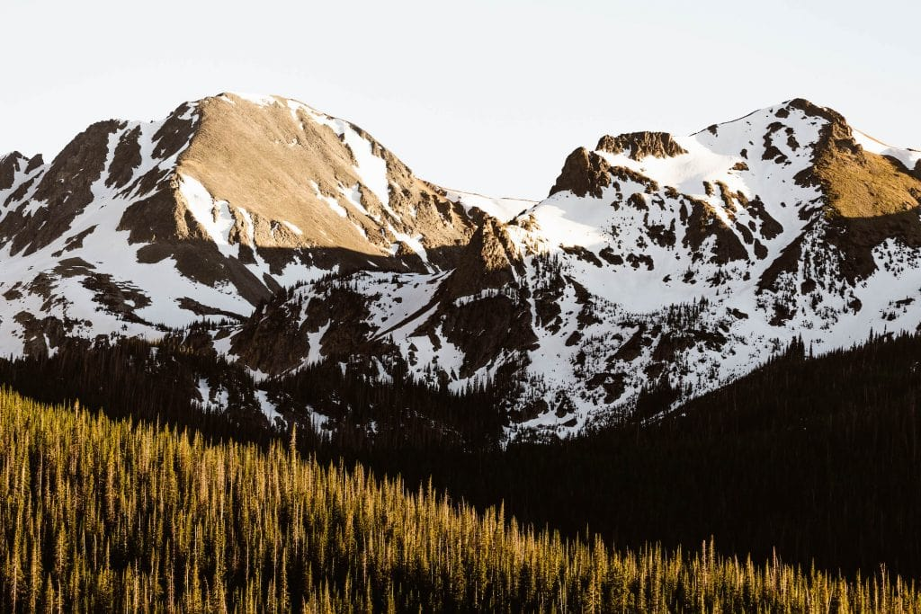 elopement locations for Colorado elopement photographers to recommend | Rocky Mountains on Cameron Pass