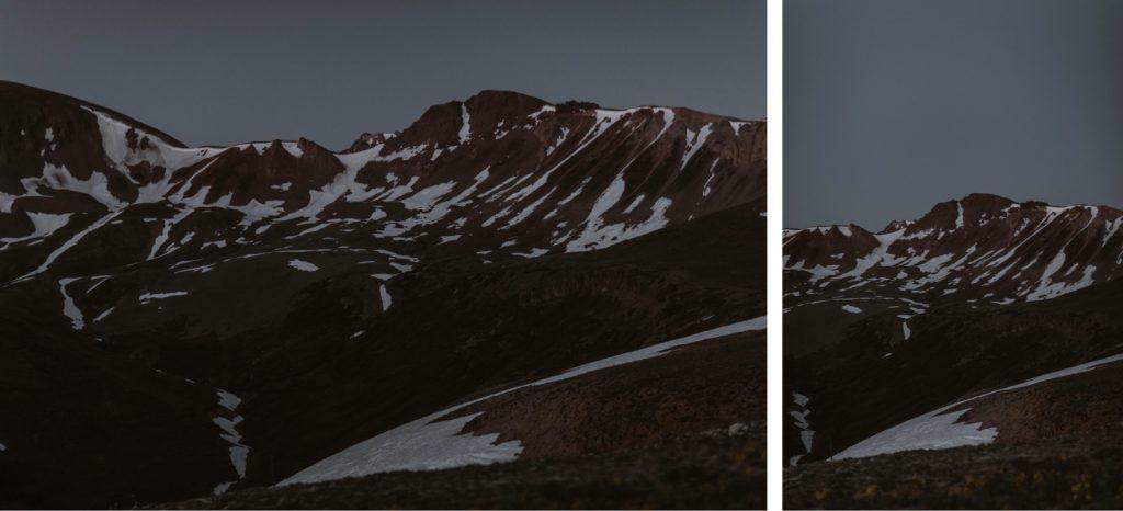 blue hour Aspen Colorado elopement photos