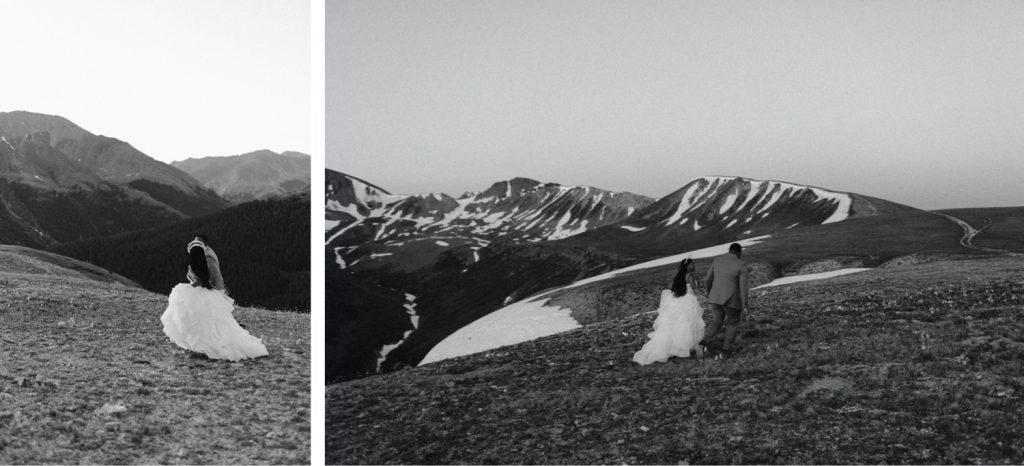 sunrise couples photos before a sunrise Aspen Colorado elopement