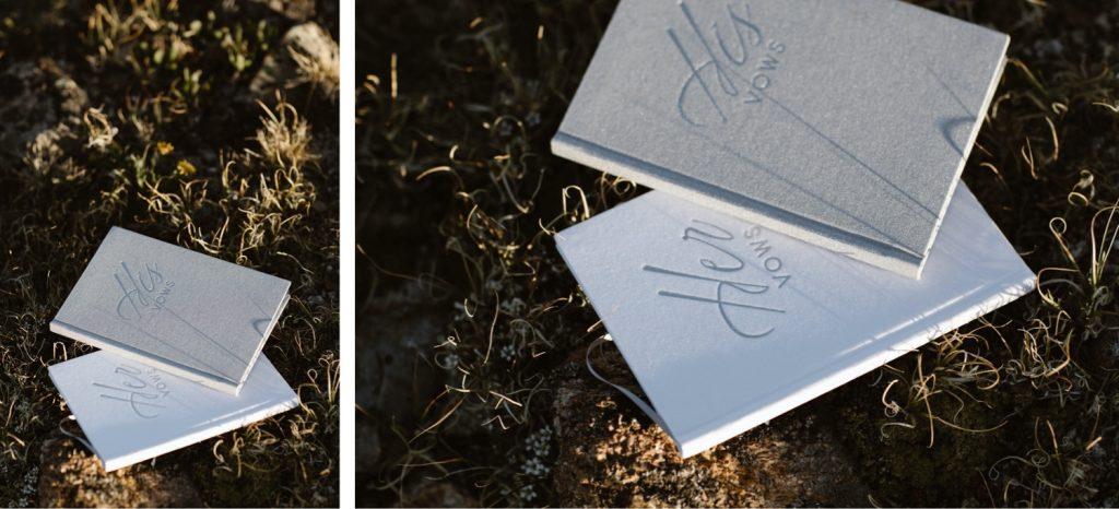vow books for an Aspen Colorado elopement